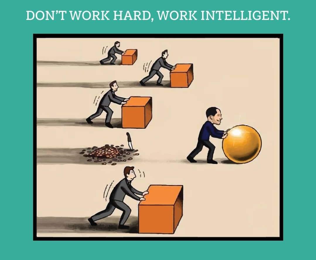 dont work hard, work intelligent