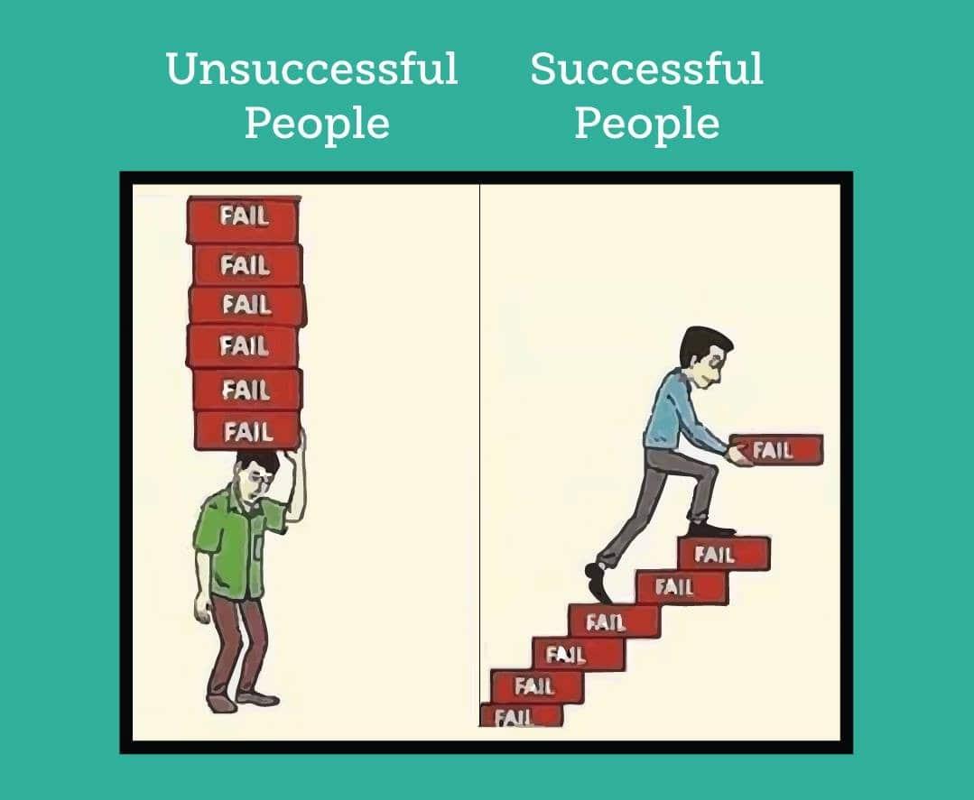 unsuccessful people and succesful people