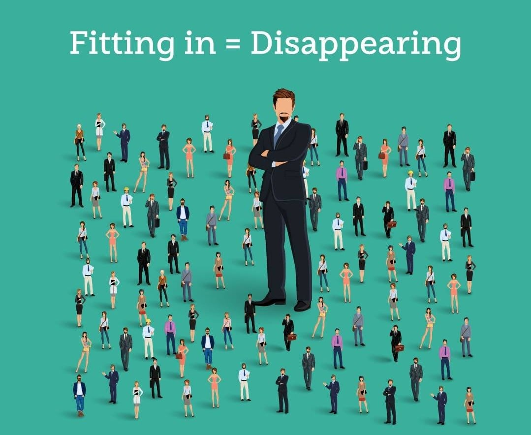 fitting in disappearing
